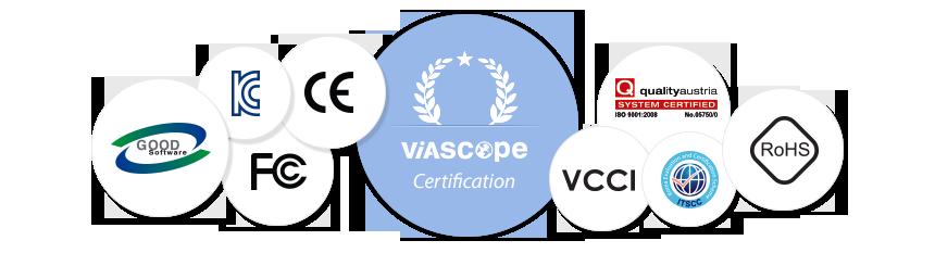 Viascope Certificates